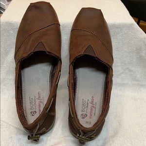 Skechers Shoes - Bob's Memory Foam Fleeced Lined Brown Loafers
